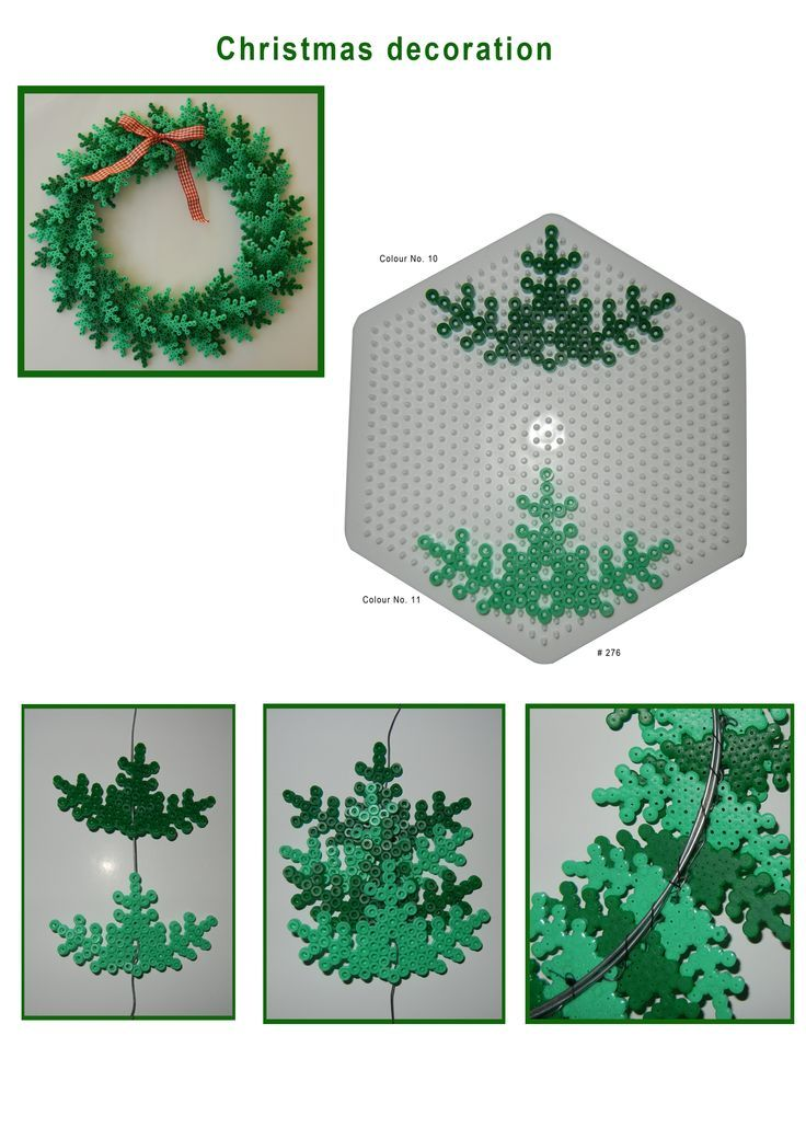 Christmas Decorations - Hama perler bead