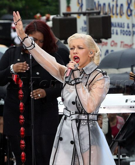 Christina Aguilera preforms at The Early Show in New York City.  June 9, 2010 X17online.com exclusive