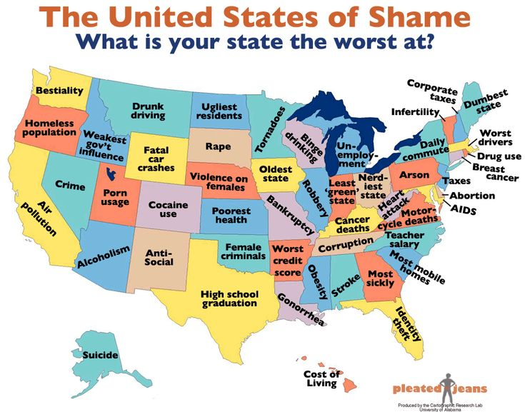 The Best Worst US Map Ever Ohio Stuffing And Hilarious - Us state map