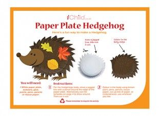 paper plate hedgehog craft 17 best images about autumn crafts and activities for 5110