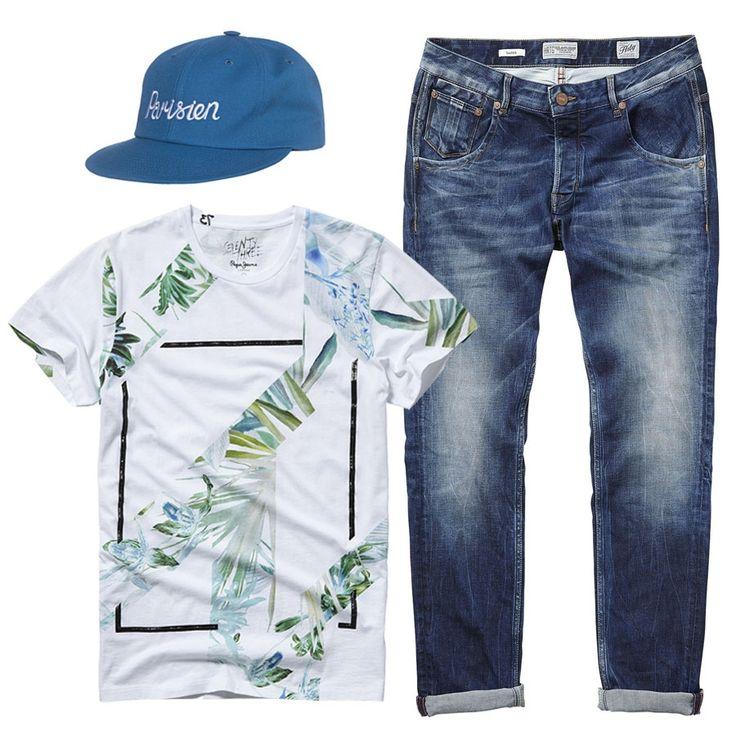 Эта стильная футболка с ассиметричным принтом поможет вам выделиться из толпы всего за 602 грн. ;) Успейте обновить свой гардероб с дополнительной скидкой 25% к сезонным до 70% в JiST или jist.ua #fashionable #outfitidea: #stylish #blue #denim #PepeJeansLondon #jeans & #assymetrical #tshirt are perfect for #chic #summer #outfit #мода #стиль #тренды #джинсы #футболка #модно #стильно #скидки #распродажа