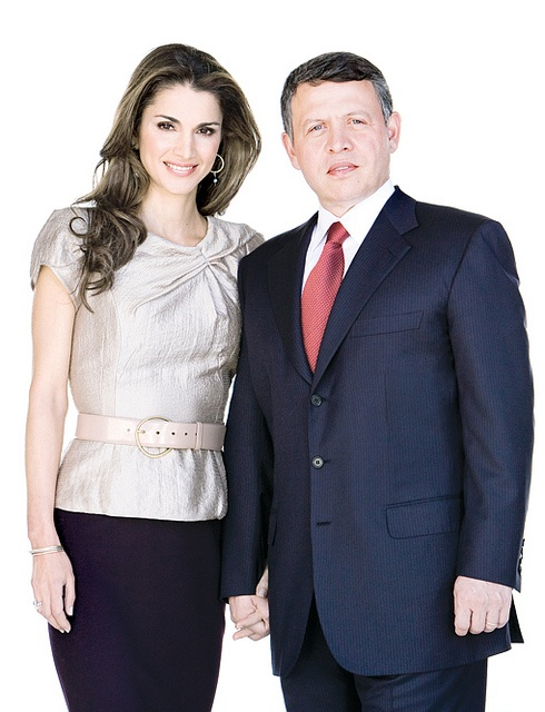 King Abdullah and Queen Rania of Jordan.. second best after King Hussein & Queen Noor. #Jordan #royalty #Arab