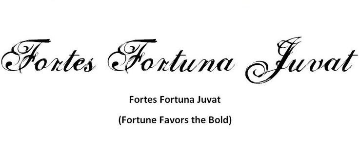 Fortes Fortuna Juvat - Fortune Favors the Bold