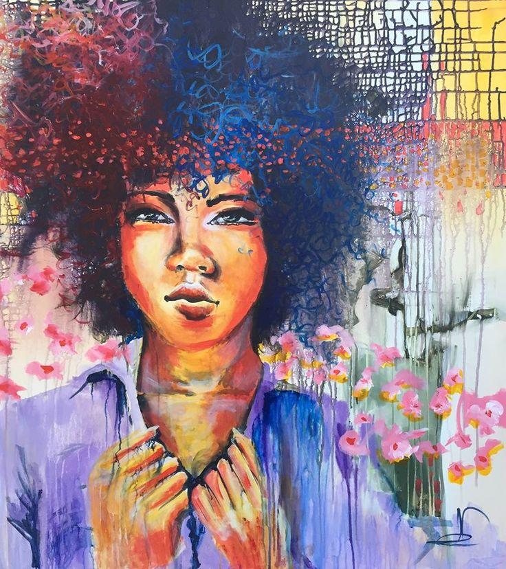 """""""Ready"""" 100X90 Cm. Acrylic on canvas Made by Naja Duarte"""