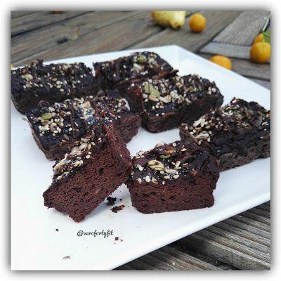 """Recetas Verofortyfit     """"Healthy and Delicious Food"""": BROWNIE SIN HARINAS DE AGUACATE Y TOFU, CON NUECES..."""