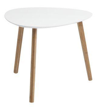 Stolik TAPS L bambus/biały | JYSK
