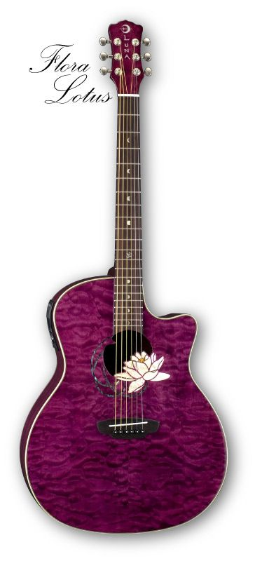 LUNA GUITAR | Luna Flora Lotus Acoustic/Electric Guitar from Pulse Music ♡ My Positive Influences on the Path to Peace @Luna Guitars