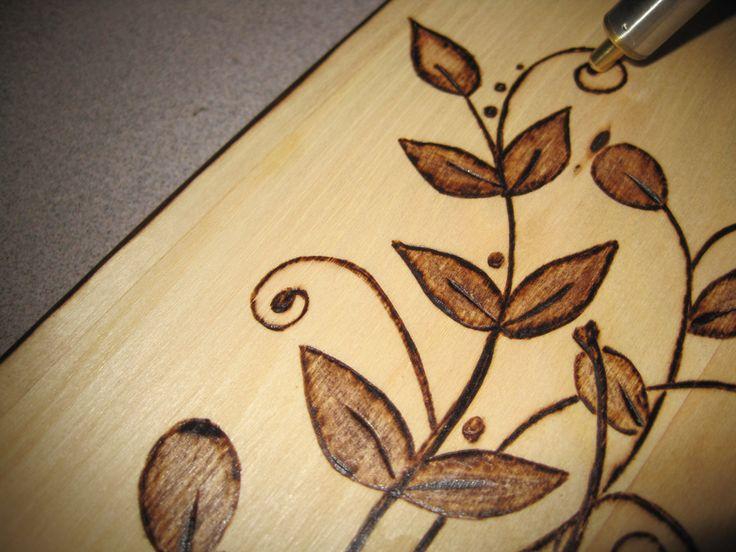 DIY  Wood Burned Florishes