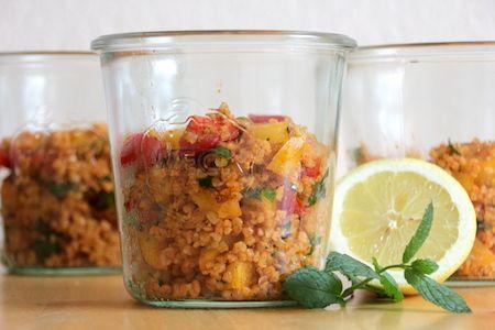 Bulgur-Salat im Glas