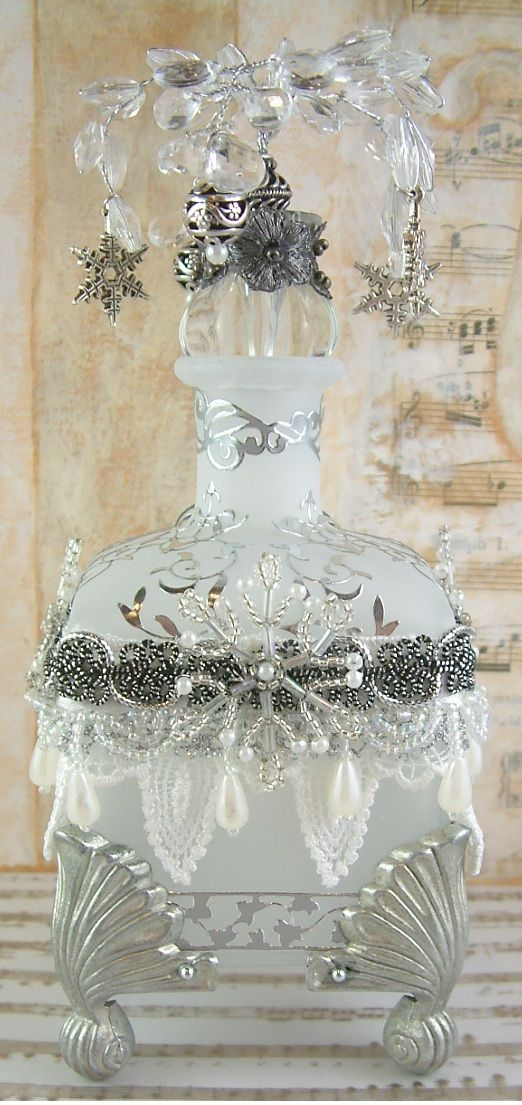 Frosted Snowflake Altered Bottle