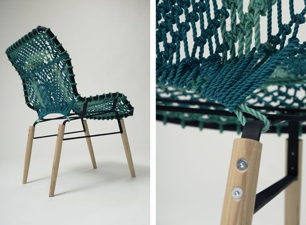 cadeira de cordas recicladas Svartskär