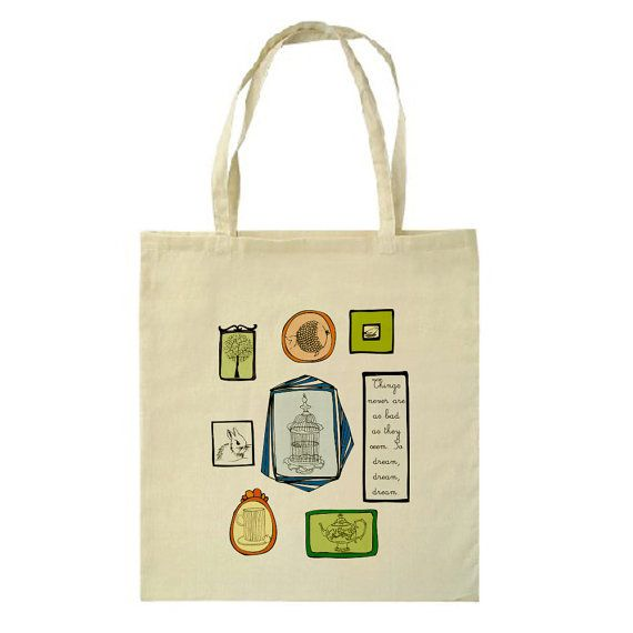 Dream Frames Tote Bag by HappyMarker on Etsy