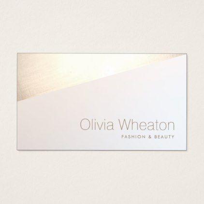 Iridescent Gold Geometric Salon Stylist Business Card - stylist business cards cyo personalize businesscard diy