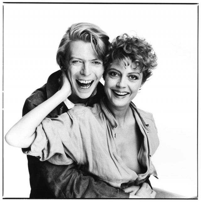 Bowie and Susan Sarandon, 1982 by David Bailey