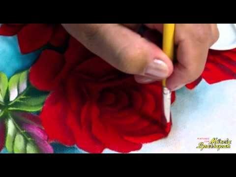 Pintando em 5 Minutos com Márcia Spassapan | Rosas Fluorescentes - YouTube