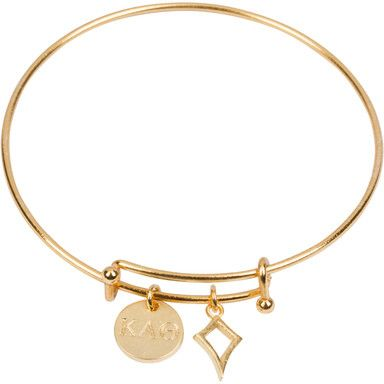 "- gold plated expandable bracelet - 1/2"" gold plated circle charm - 1/2"" gold…"