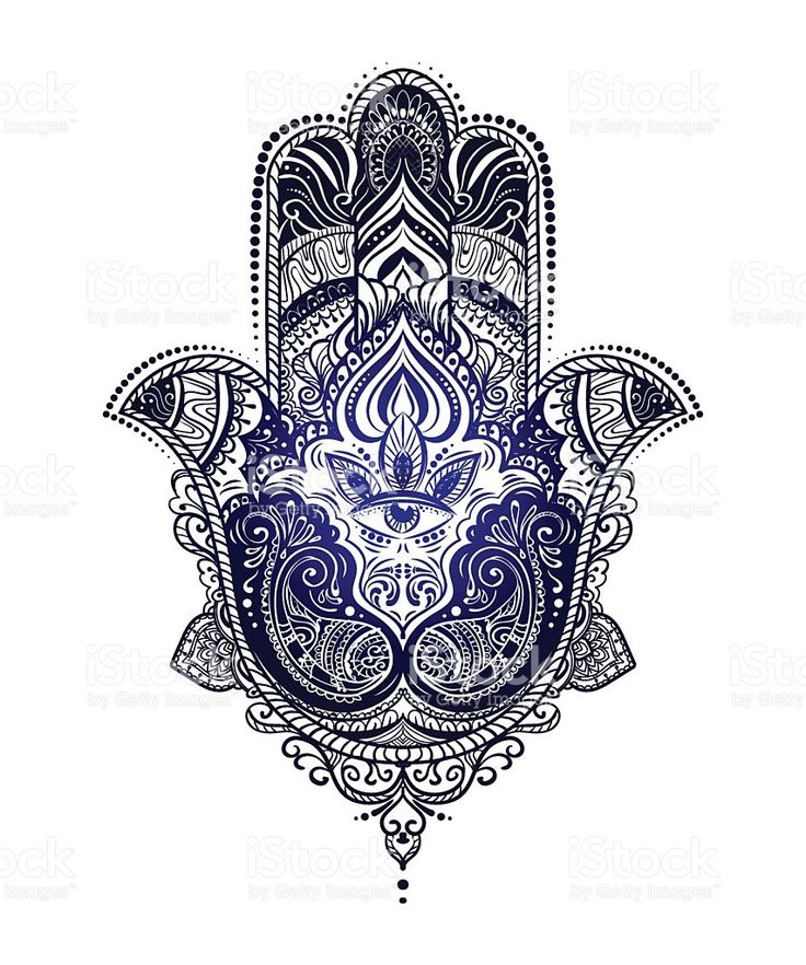 Hamsa Hand Of Fatima Royalty Free Stock Vector Art