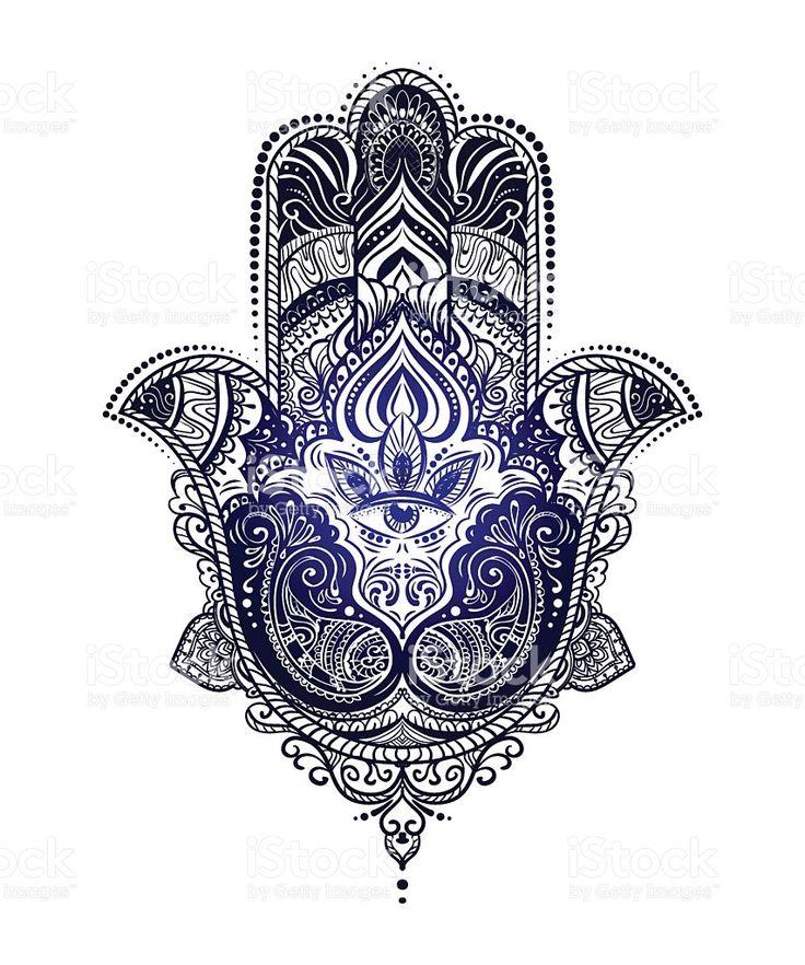 Hamsa Hand of Fatima royalty-free stock vector art