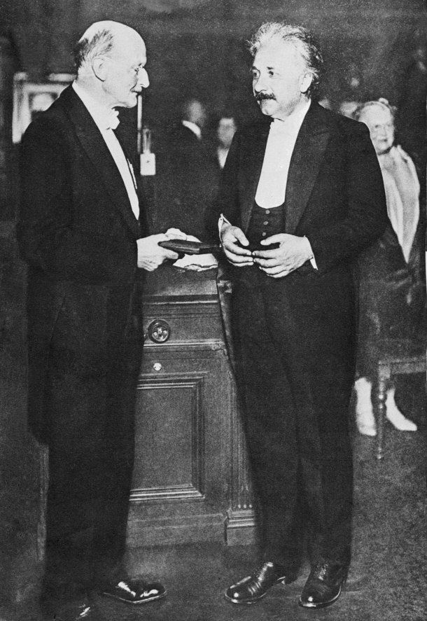 Although Einstein will forever be associated with the theory of relativity, his Nobel Prize for Physics was actually awarded to him in 1921 for his observation of the photoelectric effect. Einstein's theory of relativity was not completely accepted by scholars until many years later as it was considered controversial at the time.