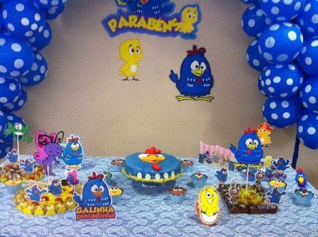 Mesa de Aniversario Festa Galinha Pintadinha