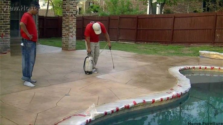 This Project Shows How We Applied A Trowel Down Overlay To Resurface  Concrete For A Patio In Keller, Tx. The Challenging Part Was The Two Layers  Of Epoxy ...