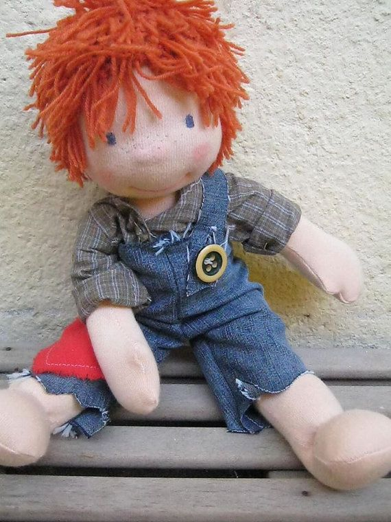 Waldorf doll waldorf inspired doll steiner doll organic by bemka $165. Reminds me of her big brother