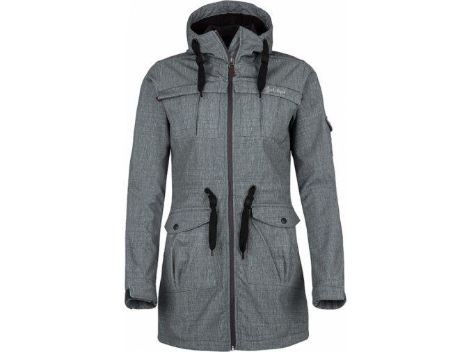 Dámský softshellový celorozepínací kabátek KILPI LASIKA-W béžová