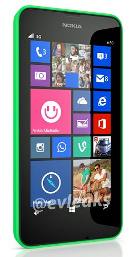 Nokai Lumia 630 press image leaks ahead of #MWC2014 announcement showing on-screen buttons, #WindowsPhone 8.1