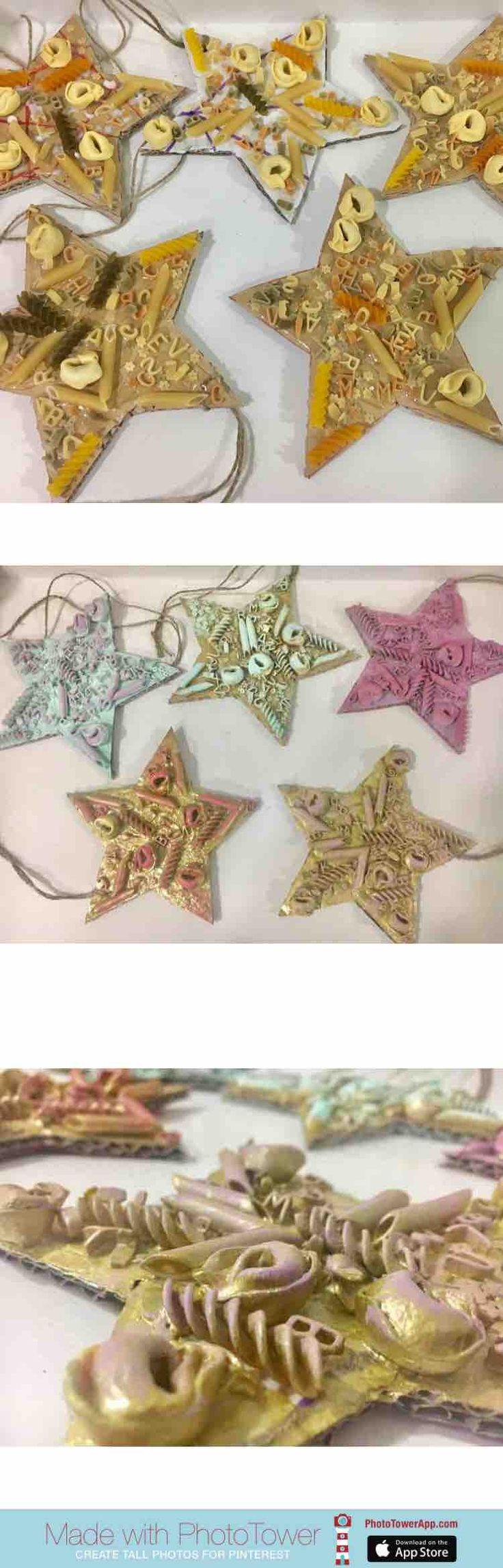 Estrellas Navideñas con cartón y pasta
