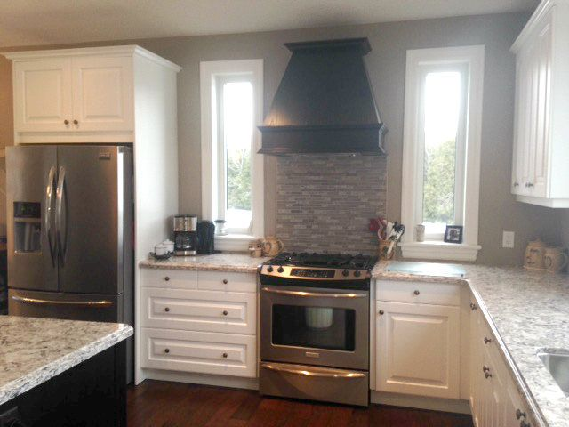Georgian Bluffs Transitional Kitchen Renovation by Van Dolder's Kitchen & Bath