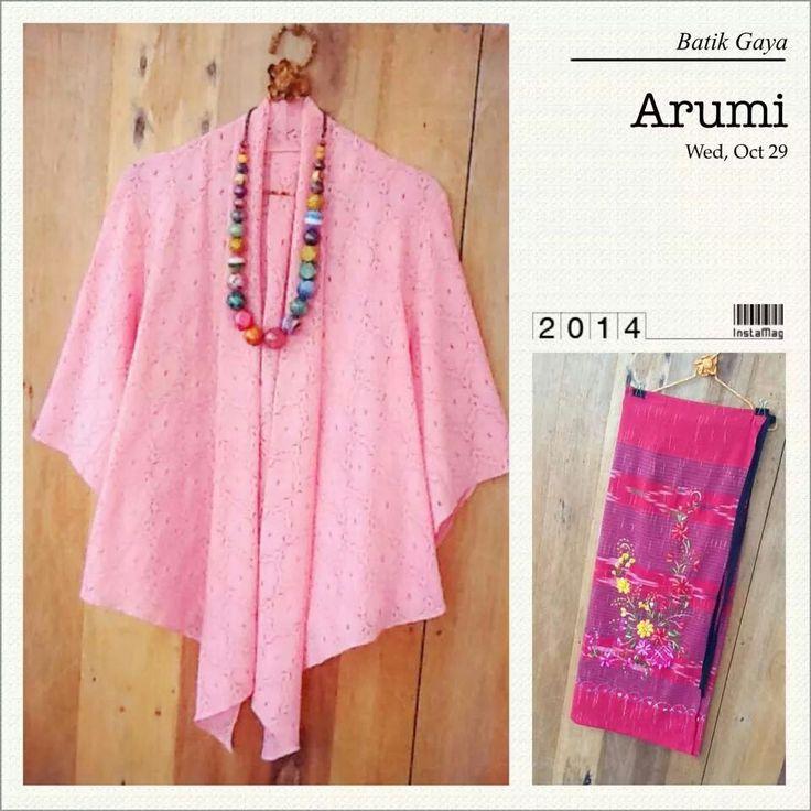 Batik with Pink Top