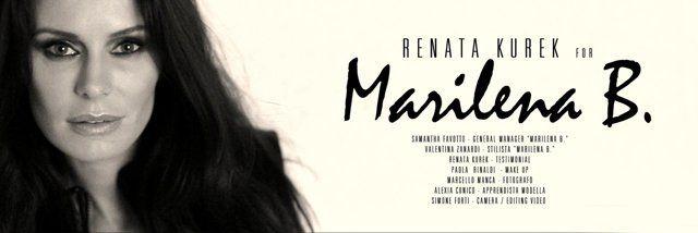 "Samantha Favotto – GENERAL MANAGER ""Marilena B."" Valentina Zanardi – STYLIST ""Marilena B."" Renata Kurek – TESTIMONIAL Paola Rinaldi - MAKE UP Marcello Manca – PHOTO Simone Forti (D-VIDEO) - CAMERA / EDITING VIDEO with CANON CINE LENSES Alexia Cunico – MODEL"