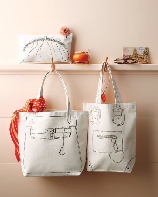 Trompe L'oeil Tote Bags and Pouch | Step-by-Step | DIY Craft How To's and Instructions| Martha Stewart