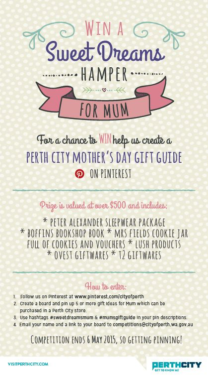 Your chance to WIN Mum this awesome 'Sweet Dreams' Hamper for Mother's Day. #sweetdreamsmum #mumsgiftguide