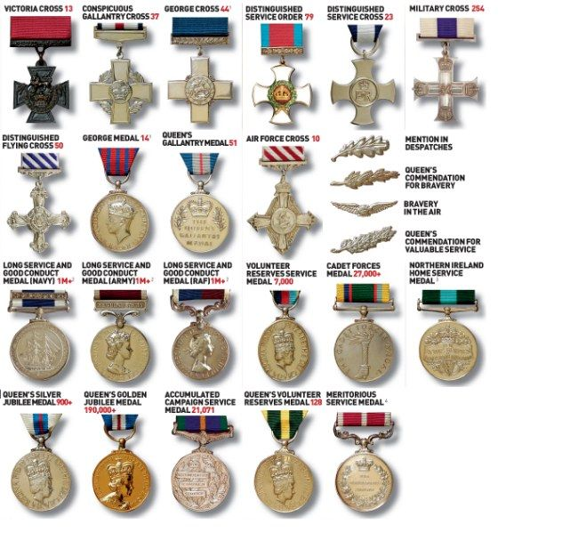 What's that medal for? Britain's military awards explained | Mail Online