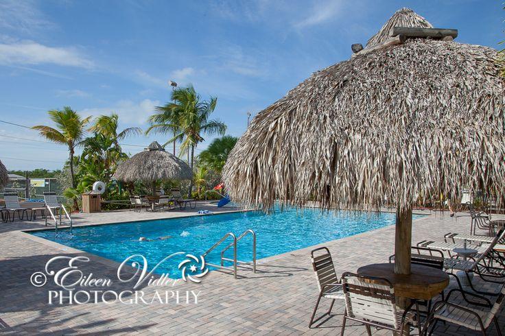 Sunshine Key RV Resort, Big Pine Key, Florida - beautiful pool and tiki huts
