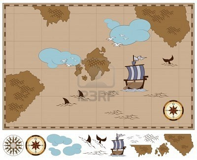 Pirate Map (idea for earning prizes from the treasure chest)