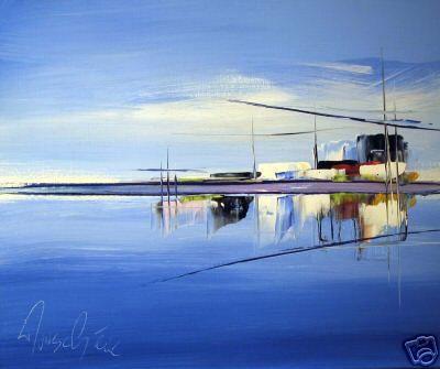 Le paysage bleu
