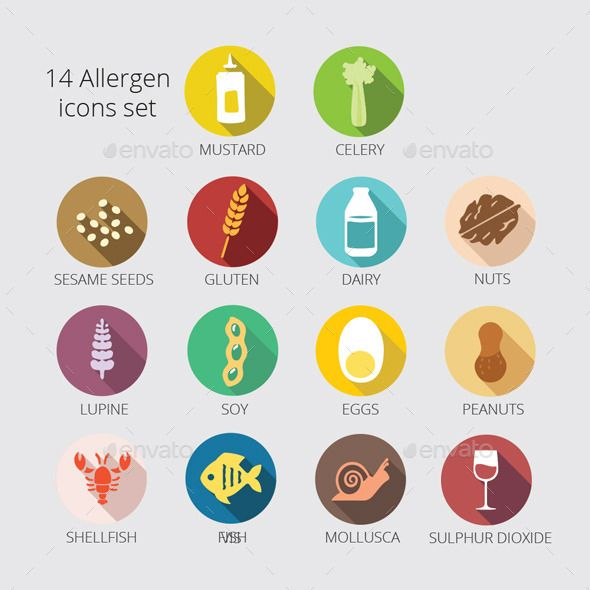14 Main Allergy icons package — Vector EPS #icon #lupine free • Available here → https://graphicriver.net/item/14-main-allergy-icons-package/9952776?ref=pxcr