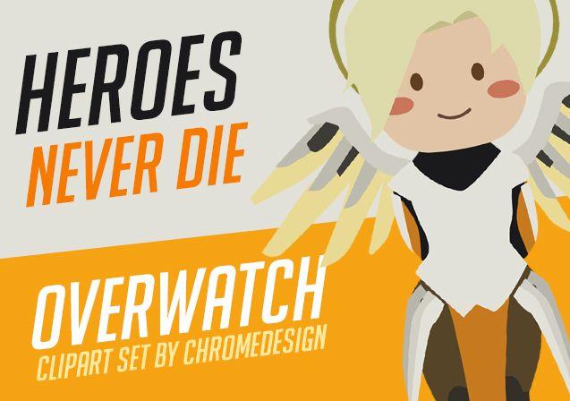 New Overwatch clipart set of Hanzo, Genji, Mercy, Ana, Torbjörn and Zenyatta just came out! #Overwatch https://www.etsy.com/listing/541274296/overwatch-clipart-chibi-hanzo-genji