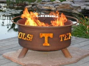"""University of Tennessee Collegiate Fire Pit / Grill """"GO VOLS"""": Fire Pits, Ideas, Gift, Outdoor, Firepits, Backyard, U.S. States, Products"""