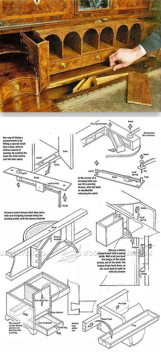 Secret Compartment Furniture - Furniture Plans and Projects | WoodArchivist.com