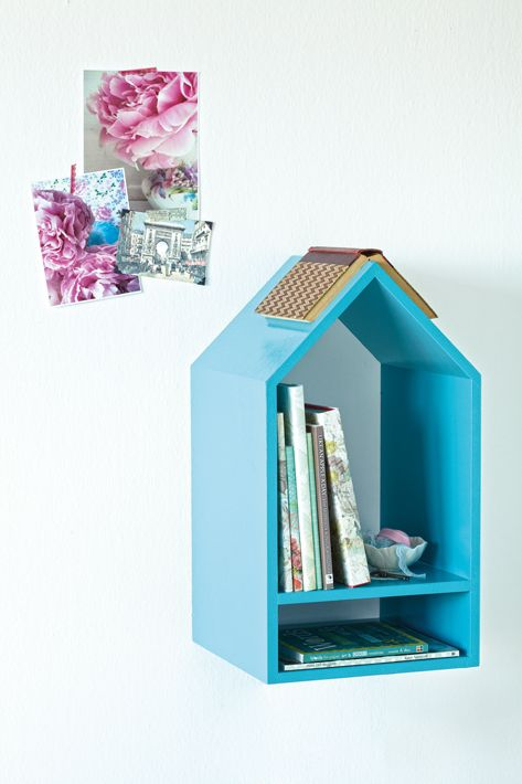 How about this bookworm bookshelf...need to make this (read ask my husband) for my daughter!