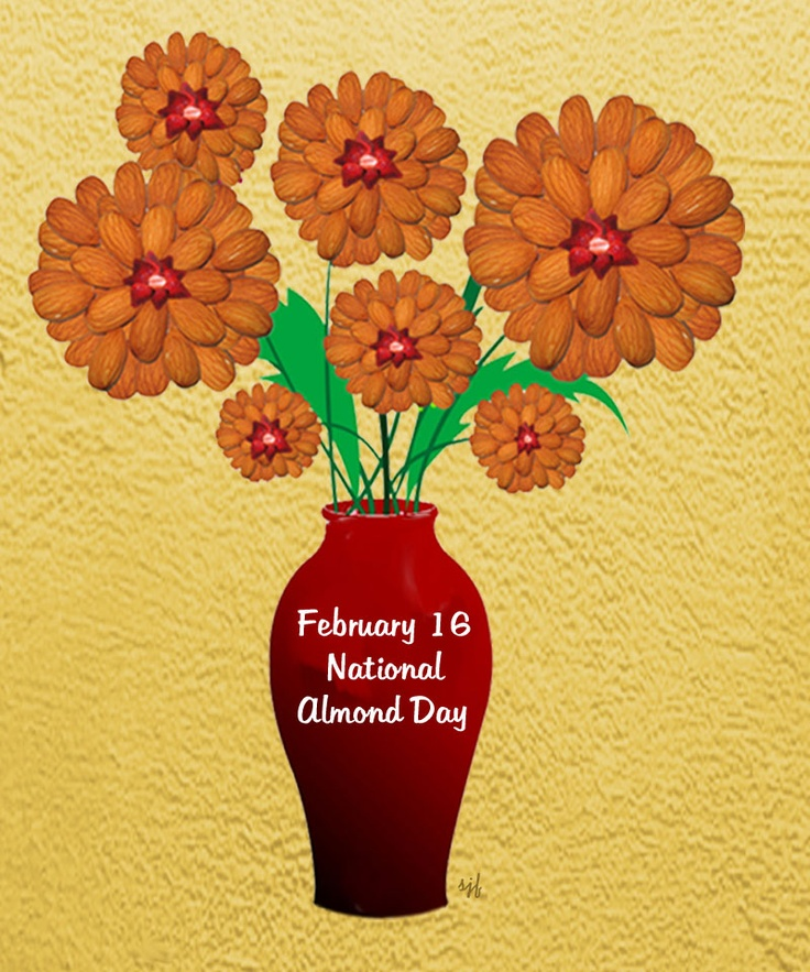 February 16, 2013 National Almond Day Photo-Graphic Design
