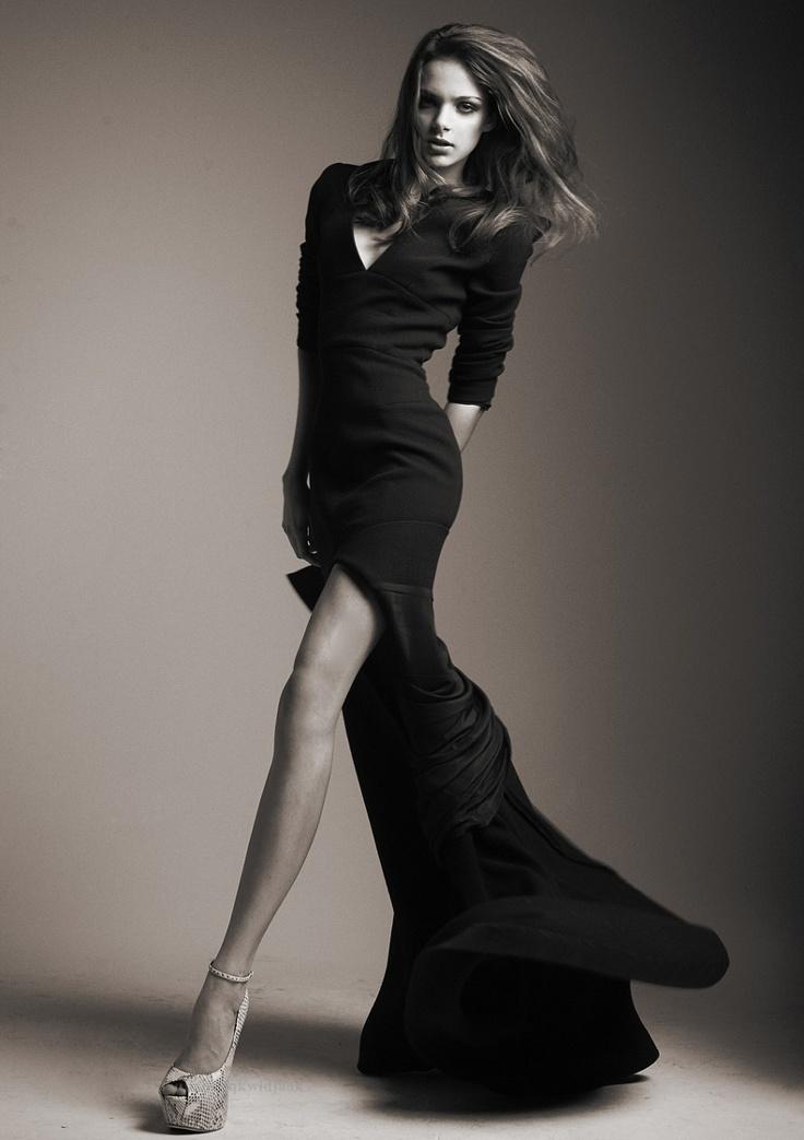 long black dress - For Bridal Show