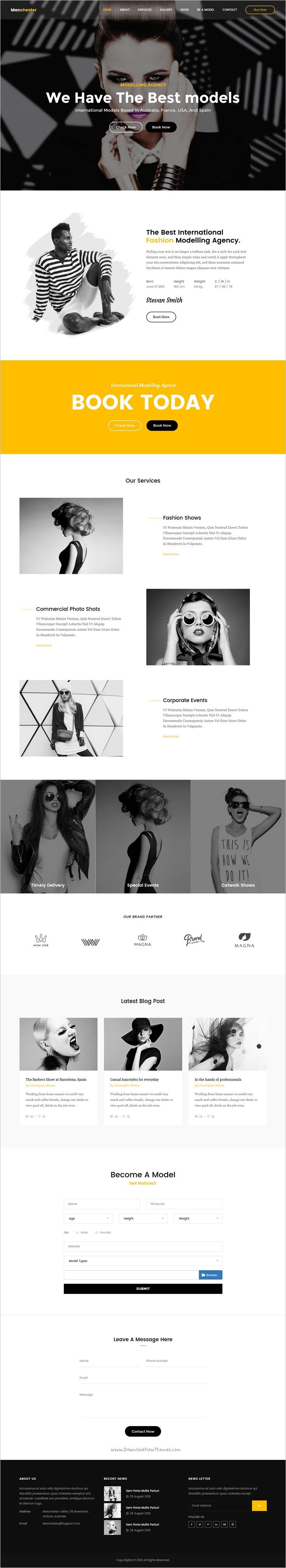 Manchester is a wonderful responsive 5in1 #HTML #bootstrap template for #fashion #models #agencies multipurpose website download now➩ https://themeforest.net/item/manchester-template-for-lawyers-writers-authors-salon-trainer-and-modeling-agency/18858927?ref=Datasata