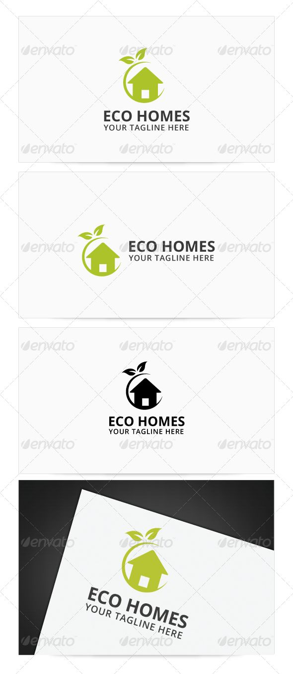 Eco Homes Logo — Photoshop PSD #recycle #leaf • Available here → https://graphicriver.net/item/eco-homes-logo/8110747?ref=pxcr