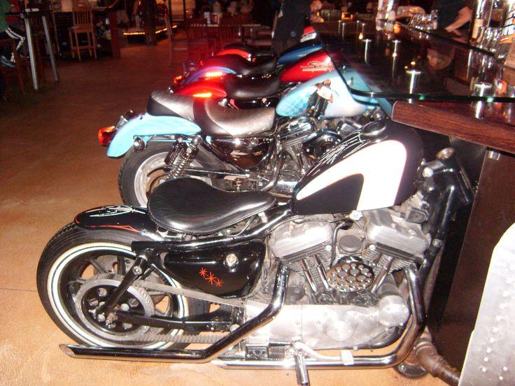 Motorcycle Bar Stools At Wicked Wheel Panama City Beach