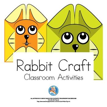 Crafts and Classroom Decorations - Rabbit Theme