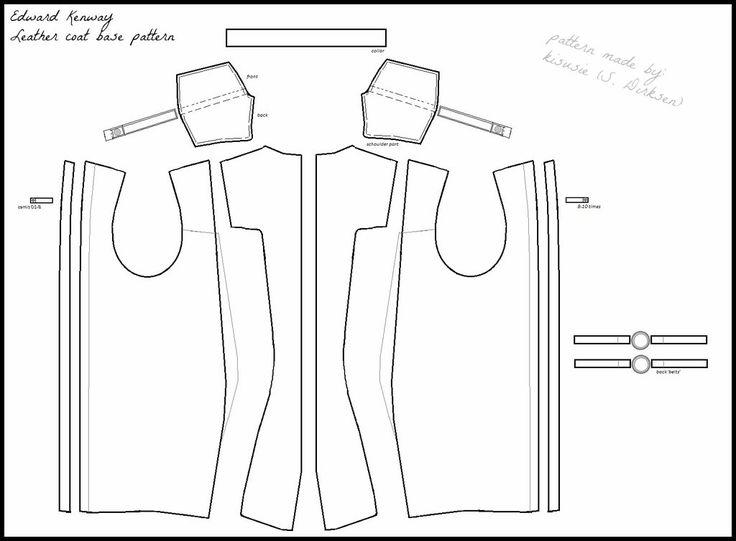 AC IV: Edward Kenway basic leather coat pattern by kisusie